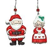 Santa & Mrs Claus Pierced Dangle Earrings (H371)