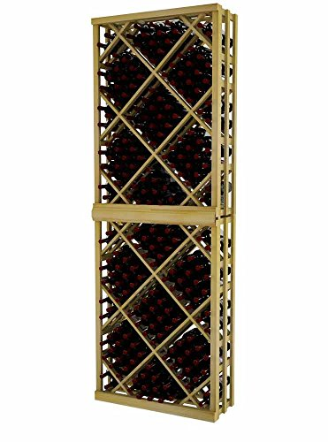 Vintner Series Wine Rack - Open Diamond Bin - 8 Ft - Pine with Unstained
