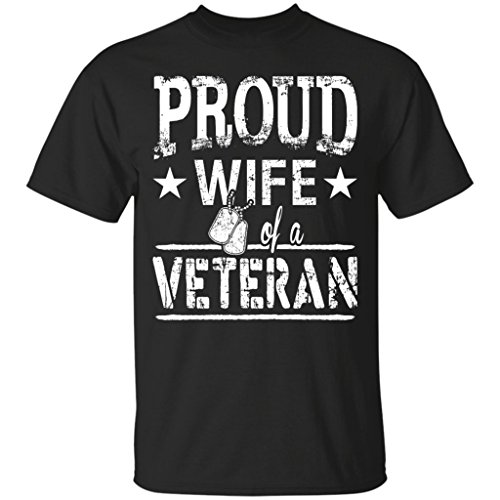 Proud Wife Of A Veteran - Gift Tee For Veteran, T-shirt