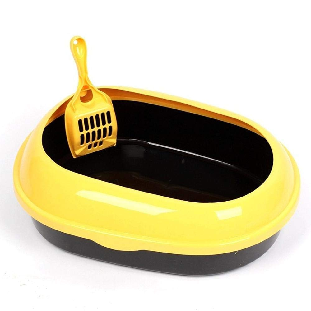 B Daeou Pet toilet Cat litter basin Semi enclosed cat toilet cat poo cone oval cat Supplies