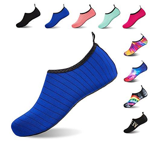 Badeschuhe Strandschuhe Wasserschuhe Aquaschuhe Schwimmschuhe Surfschuhe Barfuß Schuhe für Damen Herren Blau01