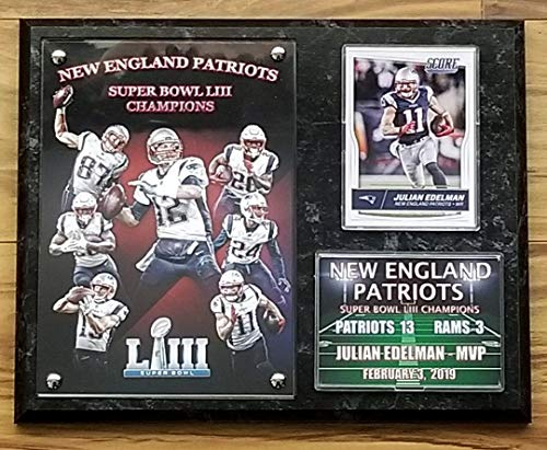 NEW ENGLAND PATRIOTS SUPER BOWL LIII CHAMPIONS 53 DELUXE 8x10 COLLECTOR PHOTO PLAQUE