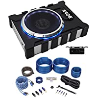 Package: Boss BASS1300.3 8 1300 Watt Powered Subwoofer With 2-Channel Amplifier Output + Rockville RWK41 4 Gauge 2 Channel Complete Wire Kit With RCA Cables
