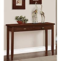 WYNDENHALL Stratford Auburn Brown Console Living Room Sofa Table
