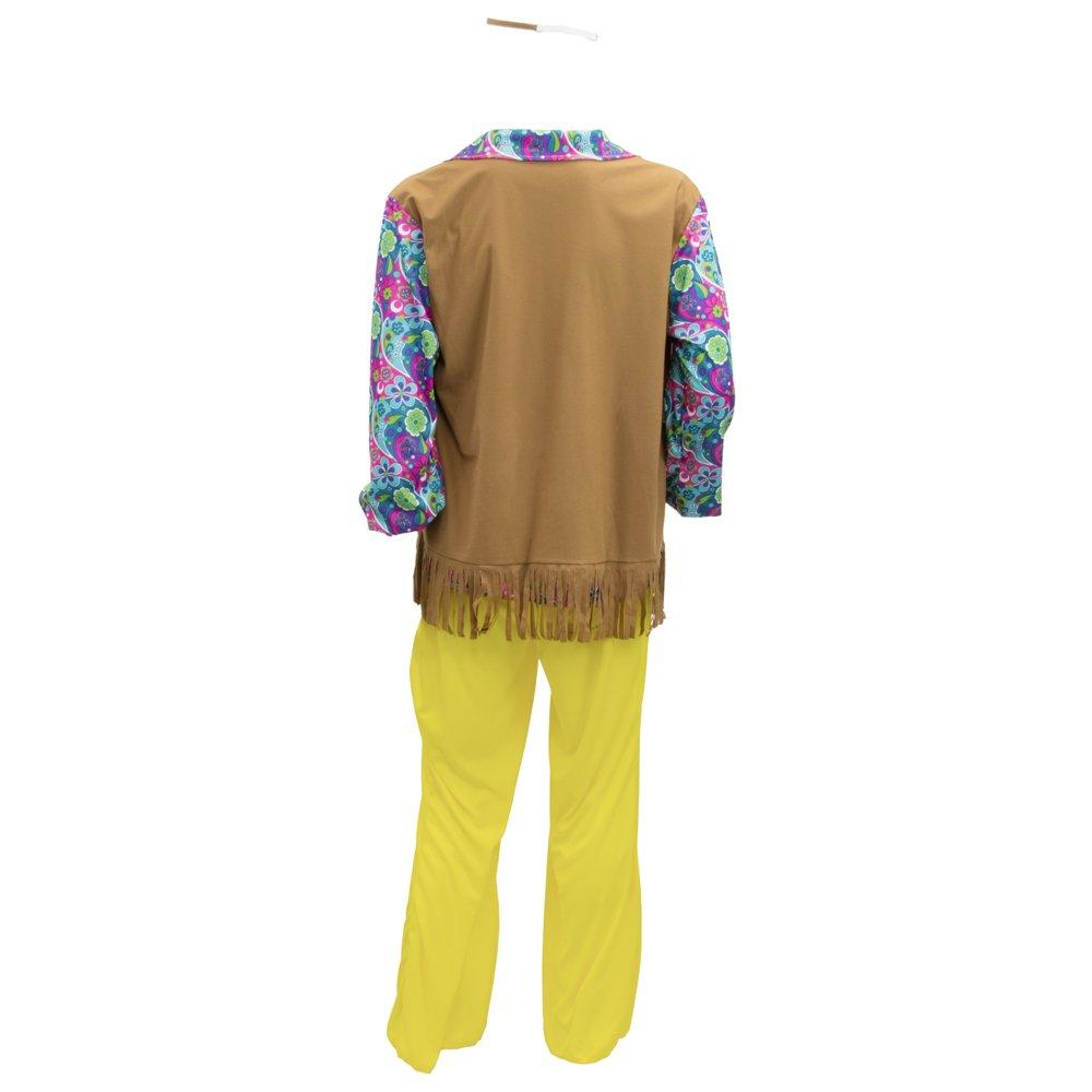 Amazon.com: Groovy Hippie de los hombres – Disfraz para ...