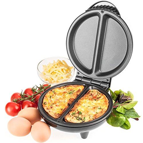 Savisto Electric Omelette Maker, 750 Watt Non-Stick Egg Cooker for...