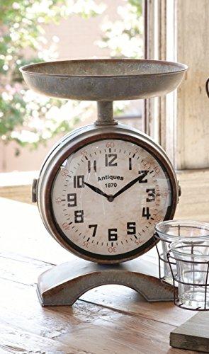 Clock Scale Galvanized 12x14 Vintage Styled Clock ET1022