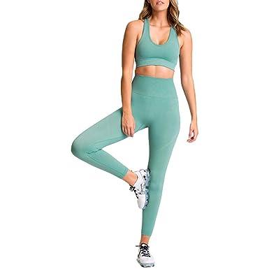 hibote Traje Yoga Sin Costuras Mujer Ropa Deportiva Fitness ...