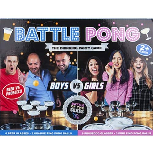 18PC BATTLE PONG GAME ADULT GIFT FAMILY ACTIVITY PARTY DRINKING ALCOHOL DRUNK NT