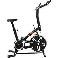 OneTwoFit Bicicleta estática, Bicicleta Estática para Entrenamiento para Interiores con Altura Ajustable y Monitor LED para Ejercicio Cardiovascular, Peso Máximo del Usuario 265 lbs OT077
