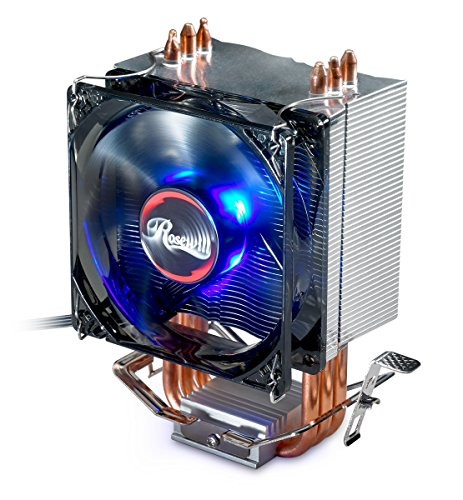 Rosewill CPU Cooler with PWM CPU Cooling Fan & 3 Direct Contact CPU Heatsink Pipes Support Intel i3/i5/i7 CPU Socket LGA 775/1366/1150/1151/1155/1156 & AMD CPU with AMD FM1/FM2/FM2+/AM2/AM2+/AM3/AM3+ (Cpu Heatsink Fan)