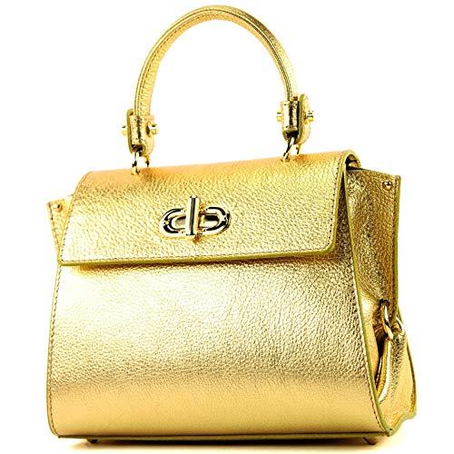 Fourre Italien Cuir Gold De T182 metallic Modamoda Petit tout Pour Femme 6qEwnIp