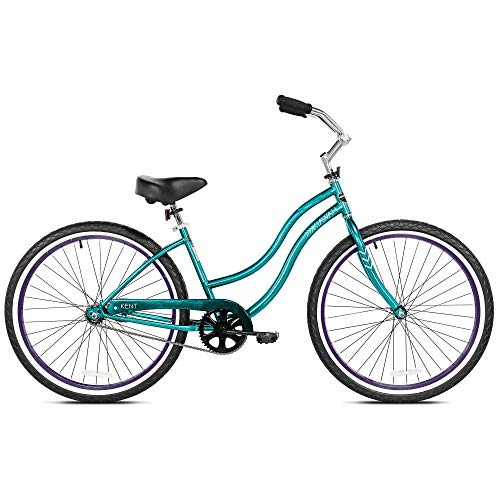 Kent International 26 Inch Back Wheel Kiawah Ladies Cruiser Street Bicycle, Teal ()
