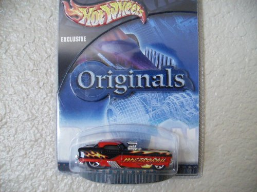 Hot Wheels Metrorail 2002 Target Originals #10 Red and Black W/flames W/5sp's -  MATTEL