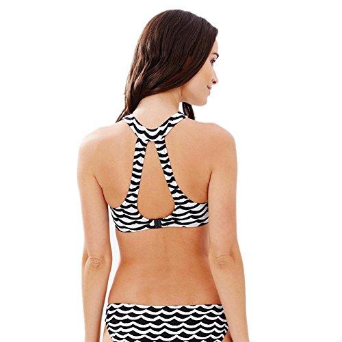 El nuevo traje de baño bikini onda split traje de baño milky white