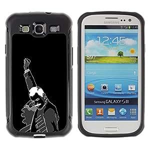 "Pulsar iFace Series Tpu silicona Carcasa Funda Case para Samsung Galaxy S3 III I9300 , Arte Puño Revolución Hombre Negro negro impresiones"""