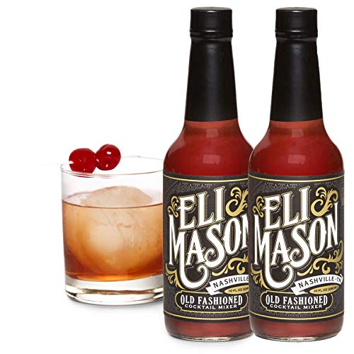 Eli Mason Old Fashioned Cocktail Mixer - All-natural Old Fashioned Cocktail Syrup - Uses Real Cane Sugar & Proprietary Blend Of Cocktail Bitters - Made In USA, Small Batch Cocktail Mixes - 20 Ounces