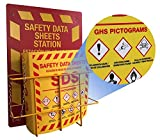 """Product review for Bilingual Right to Know SDS Center Wire Rack and 3"""" Binder with GHS Pictograms"""