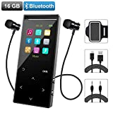 MP3 Music Player with Bluetooth, 16GB Portable Digital Music Player Built-in FM Radio/Voice