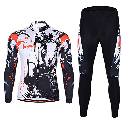 腹発症敏感なサイクルウェア 男性 上下セット サイクリング ウェア 自転車ウェア 長袖ウエア ロードバイクウェア 春秋 吸汗速乾