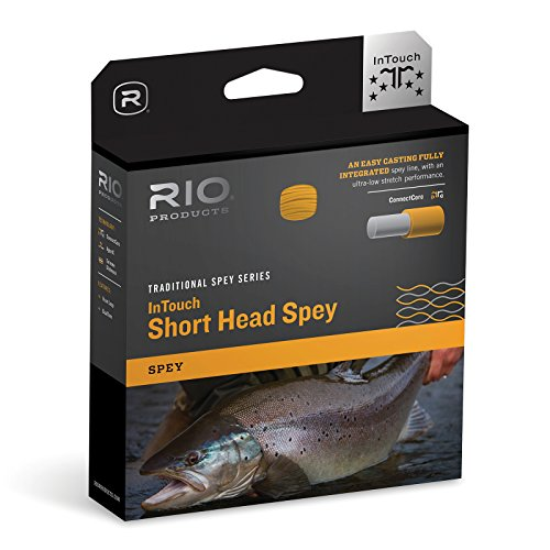 - Rio Fly Fishing Fly Line InTouch Short Head Spay 6/7 Fishing Line, Blue-Orange-Straw