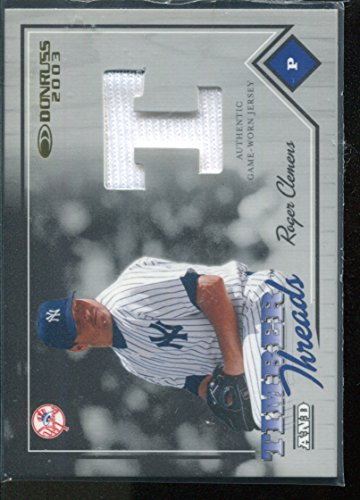 2003 Donruss Timber and Threads #45 Roger Clemens Jersey Card /350 by Donruss