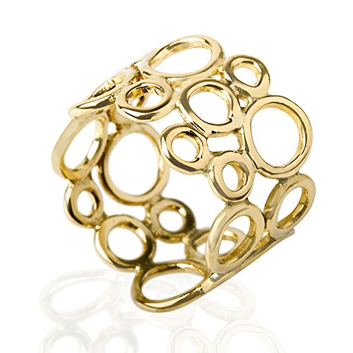 Everyday Bubble Circle Woman 14K Yellow Gold Ring - 14k Yellow Gold Bubble