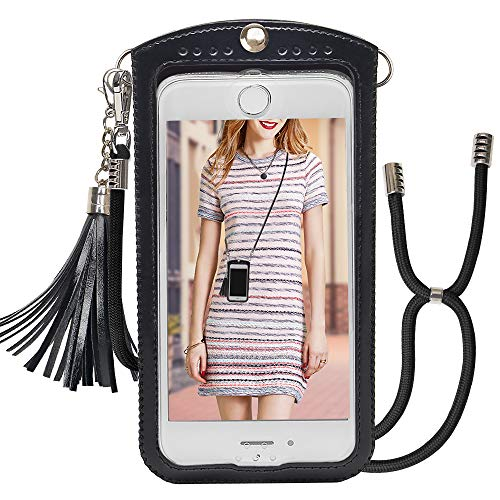 Phone Purse COCASES Women Crossbody Cell Phone Purse Leather Bag with Adjustable Strap