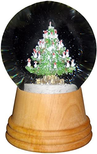 Alexander Taron Importer 2404 Perzy Snowglobe, Medium Christmas Tree with Wooden Base-5 H W x 3 D, 5 x 3 x 3 , Brown