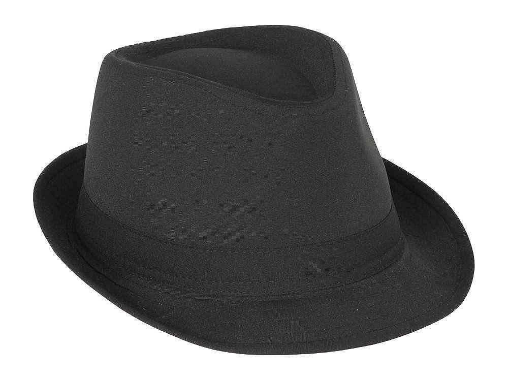 Amazon.com  TOP HEADWEAR Classic Black Fedora Hat  Clothing bf4fdf125a9