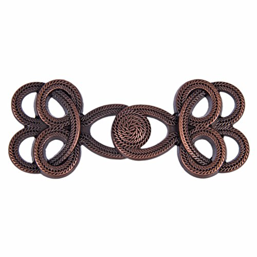 (Double Knot Braid Chinese Frog Closure - Functional with Sewable Shank - Antique Copper - 3