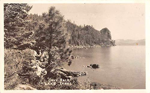 Lake Tahoe Cave Rock Scenic View Real Photo Vintage Postcard JA4742489 ()
