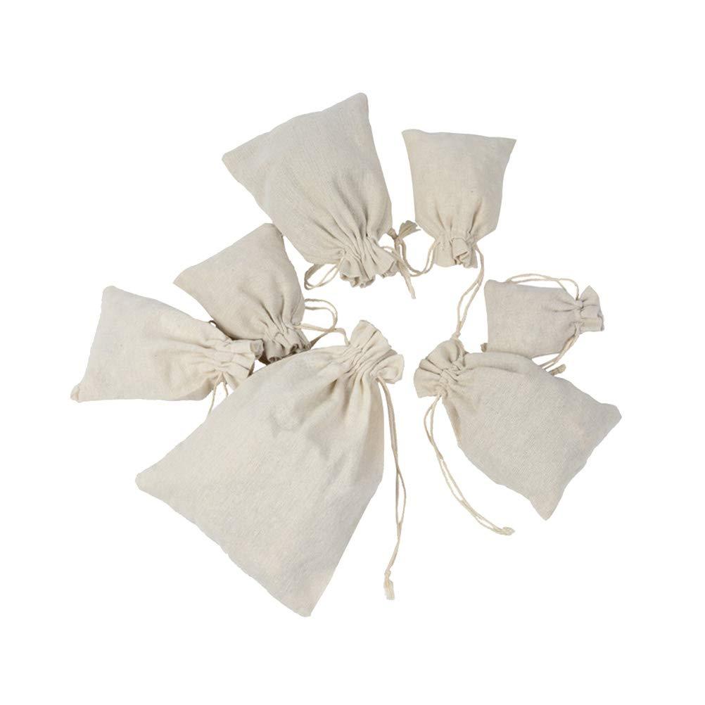 BESTONZON W/äsches/äcke aus Kordel mit Lavendel-Motiv 4 St/ück