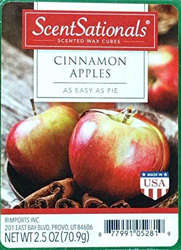 ScentSationals Cinnamon Apples Wax Cubes product image