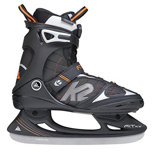 K2 Schlittschuhe Fit Ice Boa Herren Schlittschuhe, Schwarz-Orange, 44 EU (10.5 US), I150301101