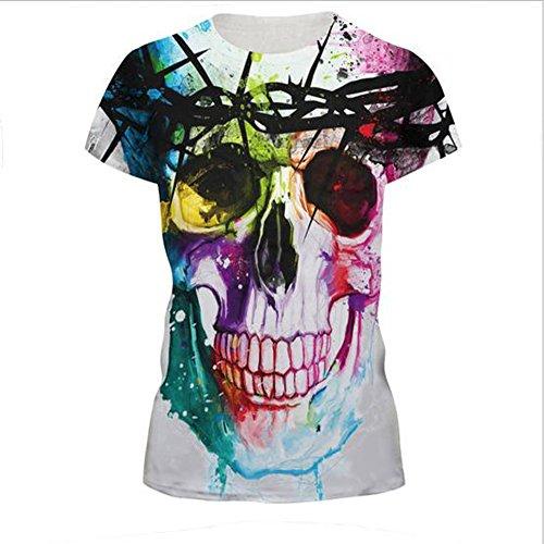 Elakaka Women's 3D Printing Leisure Slim Short Sleeve T-shirt£¨226 (Silk Faille Strapless Dress)