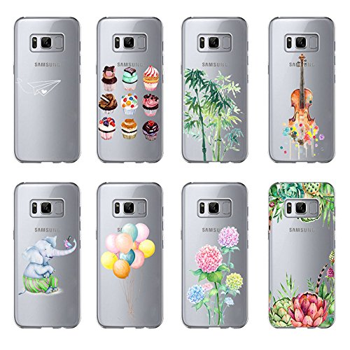 Funda Galaxy S8,Vanki® Carcasa Cubierta TPU Silicona Goma Suave Case Protection y Premium Clarity Cover Ultra Fino Anti-Arañazos para Samsung Galaxy S8-diseño original 1