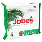 Jobe's Palm Tree Fertilizer Spikes 10-5-10 Time Release Fertilizer for All Outdoor Palm Trees, 5 Spikes Per Package