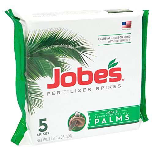 Tree Fertilizer Spikes - Jobe's Palm Tree Fertilizer Spikes 10-5-10 Time Release Fertilizer for All Outdoor Palm Trees, 5 Spikes Per Package