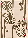 Momeni Rugs LMOJULMJ-3IVY4060 Lil' Mo Whimsy Collection, Kids Themed Hand Carved & Tufted Area Rug, 4′ x 6′, Ivory For Sale