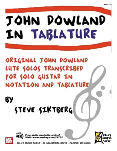 JOHN DOWLAND IN TABLATURE: 40 SOLOS FOR GUITAR: John Dowland