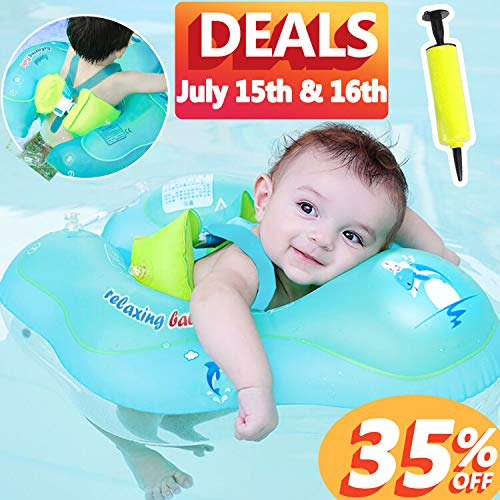 - 【Upgrade】Baby Swimming Float Ring-Baby Spring Floats Swim Trainer Newborn Baby Kid Toddler Age 3-48 Month 11-48 Lbs Summer Prime Offer July 15-16 Outdoor Water Toy Swimming Pool Accessories