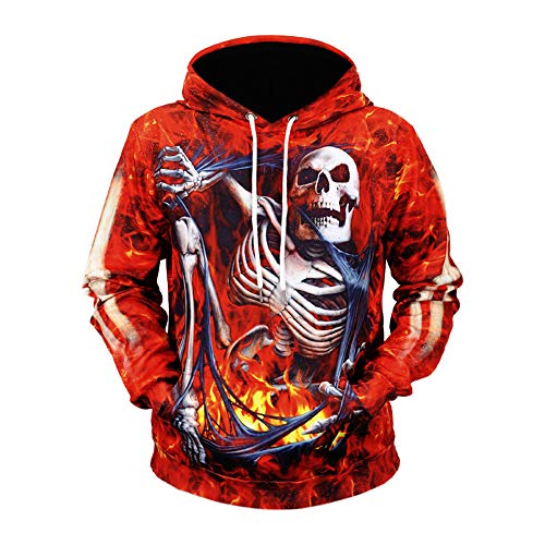 Men's Hoodies 3D Printed Halloween Horror Bone Series Long Sleeve Casual Fashion(red-deadopen,M)]()