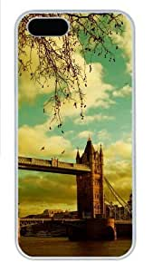 iPhone 5S Case, iPhone 5S Cases - London Scenery Polycarbonate Hard Case Back Cover for iPhone 5/5S White