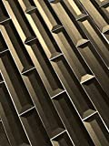 Abolos Inner Bevel 3D Glass Subway Tile Kitchen Bathroom Backsplash Home, 2'' W x 8'' L, 12.54 Sq. Ft, 114 Piece AMZJAB0208-BR 2'' W x 8'' L, 2'' W x 8'' L, Bronze