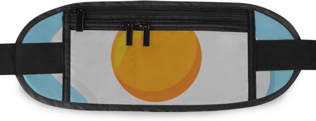 Fried Egg Running Lumbar Pack For Travel Outdoor Sports Walking Travel Waist Pack,travel Pocket With Adjustable Belt