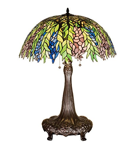 - Tiffany Style Stained Glass Light Honey Locust Table Lamp