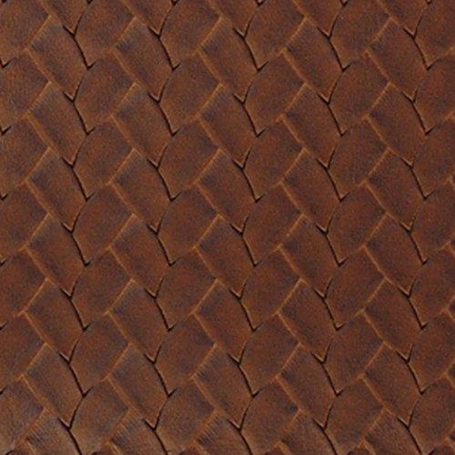 San Remo Bourbon Brown Vinyl Upholstery Fabric by the yard (San Remo Sofa)