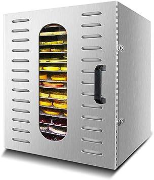 Opinión sobre Máquina de conservación de alimentos para el hogar Deshidratador de alimentos, pantalla táctil inteligente inteligente, temperatura ajustable, silencio, silencio, con 20 capas de bandeja de acero inox
