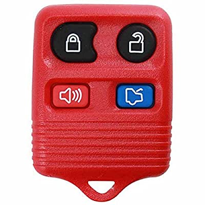 KeylessOption Red Replacement 4 Button Keyless Entry Remote Control Key Fob Clicker: Automotive